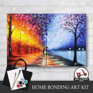 Couple Rain Walk by Afremov - Art Kit