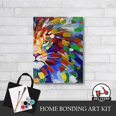 abstract-lion-home-bonding-art-kit-paint-at-home-learn-drawing-online-kl-malaysia