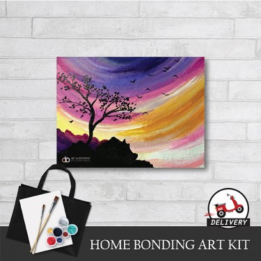beautiful-morning-home-bonding-art-kit-paint-at-home-learn-drawing-online-kl-malaysia