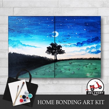 beautiful-night-home-bonding-art-kit-paint-at-home-learn-drawing-online-kl-malaysia