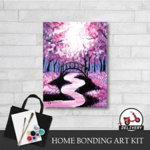 bridge-under-cherry-blossom-home-bonding-art-kit-paint-at-home-learn-drawing-online-kl-malaysia