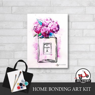 chanel-no5-home-bonding-art-kit-paint-at-home-learn-drawing-online-kl-malaysia