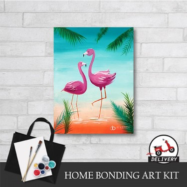 glamorous-flamingo-home-bonding-art-kit-paint-at-home-learn-drawing-online-kl-malaysia