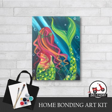 mermaid-home-bonding-art-kit-paint-at-home-learn-drawing-online-kl-malaysia