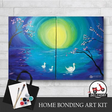 mother-swan-and-her-babies-home-bonding-art-kit-paint-at-home-learn-drawing-online-kl-malaysia