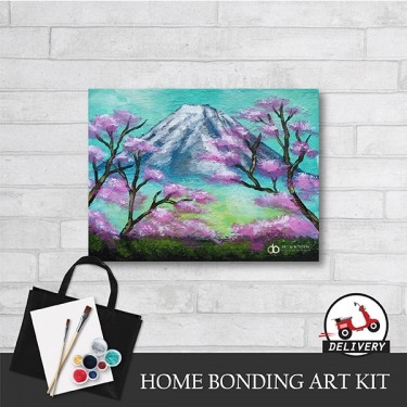 mount-fuji-home-bonding-art-kit-paint-at-home-learn-drawing-online-kl-malaysia