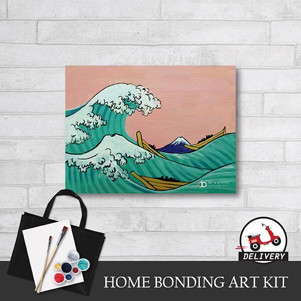 home bonding art kit the great wave off kanagawa by hokusai