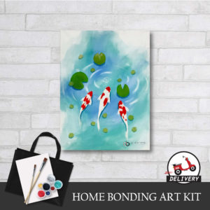 lucky koi fish home bonding art kit