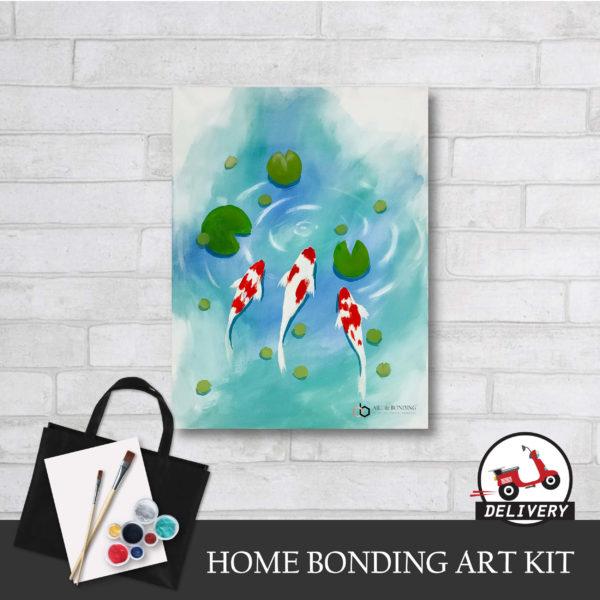 lucky koi fish home bonding art kit