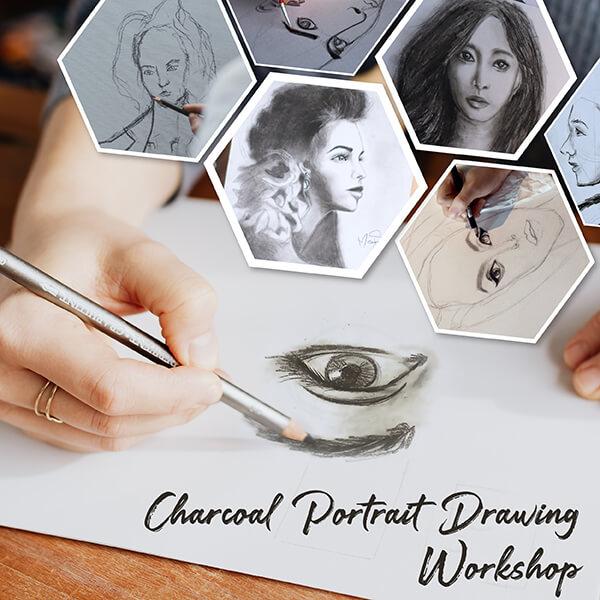 Charcoal Portrait Drawing Workshop